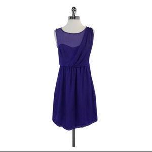 Tibi Violet Gingham Silk Dress
